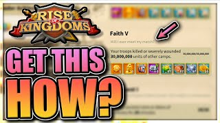 How to get 30M kills in KvK [Rise of Kingdoms Faith Achievement, conquest coin]