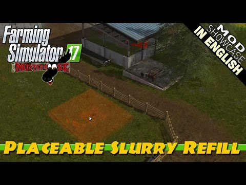 Farming Simulator 17 Mod Showcase | Placeable Slurry Refill Tank
