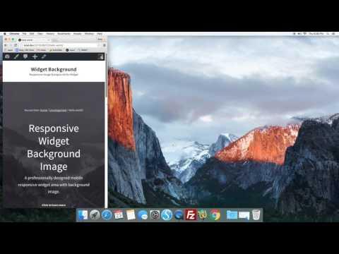 Responsive Widget & Background Image