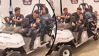 Salman Khan With Baby Ahil Makes A Grand Entry While Leaving For Dabangg Tour