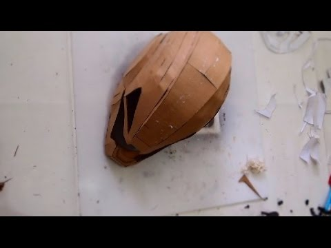 #94: IronMan Ultron Helmet Part 1 - Cardboard & Papermache (free template) Cosplay How to DIY