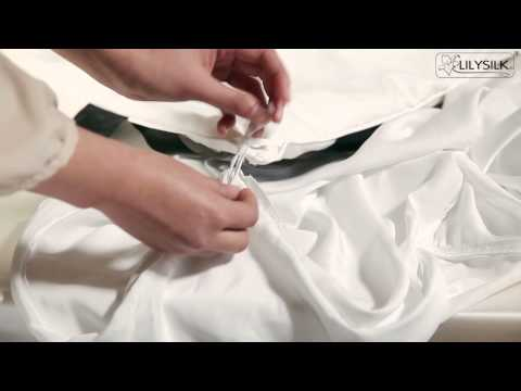 How to fixate comforter to duvet cover