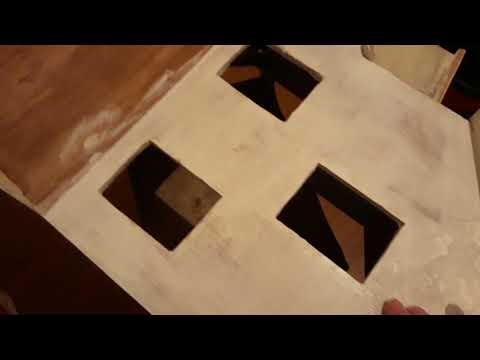 DIY plywood wooden dollhouse project part1