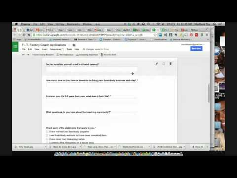 Learn to Create an Application, Form or Survey using Google Docs