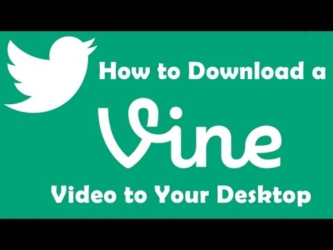 How to Download a Vine Video to Your Desktop in 6 Easy Steps