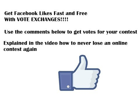 How to get online votes and Facebook Likes fast and free with vote exchanges