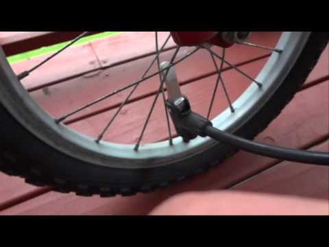How to Pump Up a Bike Tyre - Inflate or Blow Up a Bicycle Tire - Very Easy