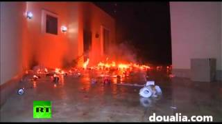 Video Us Consulate In Benghazi On Fire Ambassador To Libya Reported K