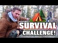 $10 WOODS SURVIVAL CHALLENGE! (24 Hours)