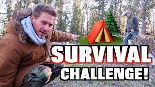 $10 WOODS SURVIVAL CHALLENGE! (24 Hours)