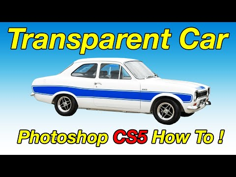 How to create a transparent background car image using photoshop cs5