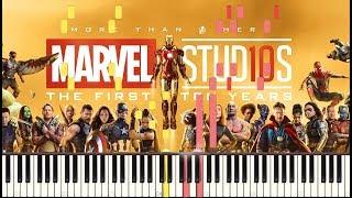 Marvel Studios MCU Piano Medley MASHUP (2008-2018) + SHEETS/SYNTHESIA