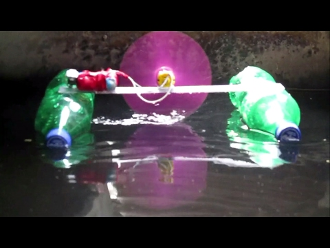 Electric Motor Boat from Plastic Bottle - How to make a super fast running Boat?