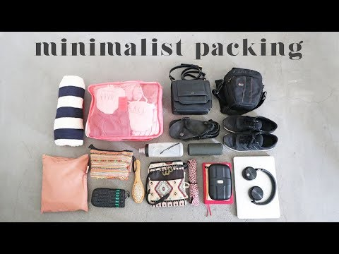 MINIMALISM SERIES | Everything I Packed for 1 Week Holiday/Vacation (+ Try On)