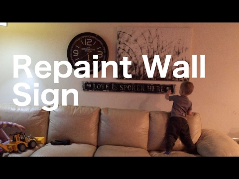 Darlene Refinishes an old wooden wall hanging sign - How to paint wood signs