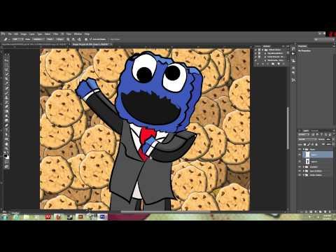 Minecraft Skin Speed Art #3 Cookie Monster Skin