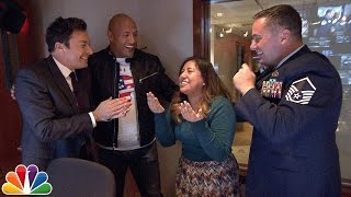 Jimmy and Dwayne Johnson Surprise