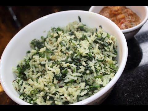 Green Rice / Spinach Rice - Healthy Variety Rice!!