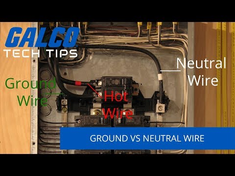 Differences Between Ground and Neutral Wires - A Galco TV Tech Tip