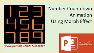 Number Countdown Animation In Powerpoint 2016 Tutorial   The Teacher