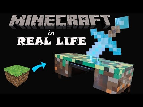 Minecraft in Real Life Computer Desk Build