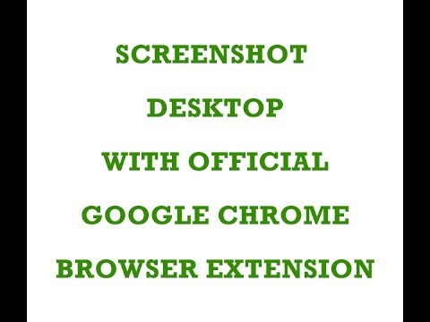 2014 How to take Screenshot using Google Chrome official Extension in Chrome Browser