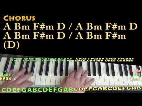 Brand New (Ben Rector) Piano Lesson Chord Chart in A Major - A Bm F#m D E