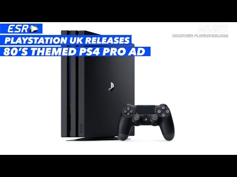 PlayStation UK Releases 80's Themed PS4 Pro Ad