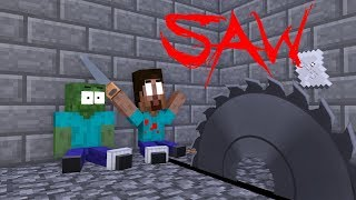Monster School : The Saw Game - Minecraft Animation