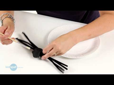 How To Make Egg Carton Spiders