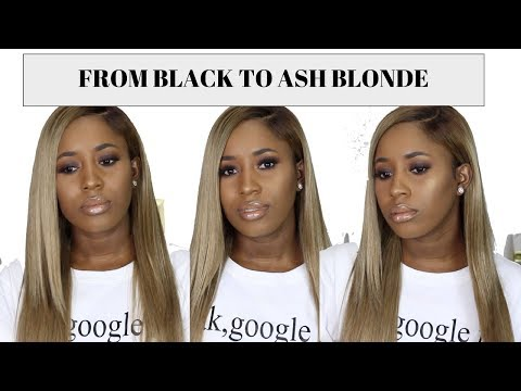 HOW TO : DYE WEAVE FROM BLACK TO ASH BLONDE| feat JULIA HAIR