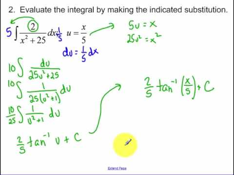 7.2 - Day 1 - Integration by Substitution (2018)