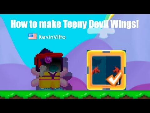 Growtopia - How to make Teeny Devil Wings!!