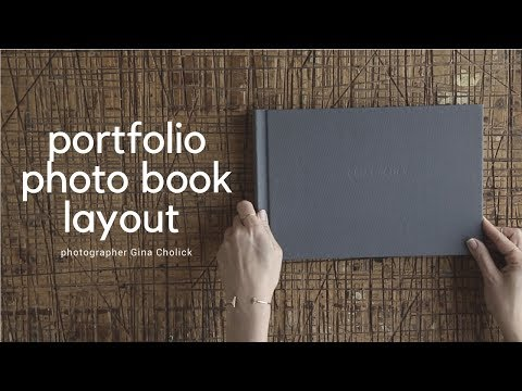 Photo book layout design and edit for photography portfolio: Case Study Gina Cholick