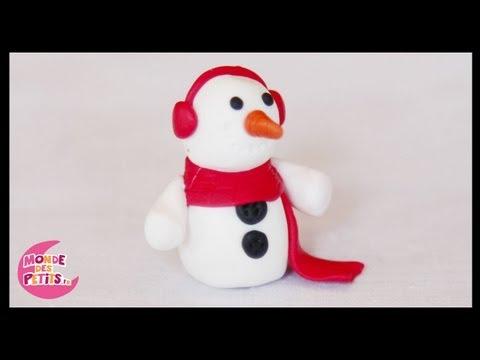 Pâte à modeler : Le bonhomme de neige de Noël