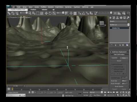 3D Studio Max Moon Landscape Creation