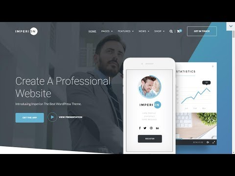 Make A WordPress Website  with Imperion Theme From TemplateMonster