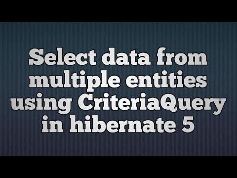 Hibernate 5:CriteriaQuery-From and JOIN Example