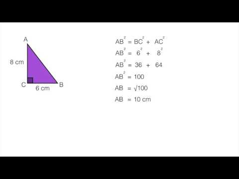 How to find the hypotenuse in a right angled triangle using Pythagoras Theorem