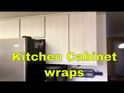 Cost on wrapping kitchen cabinets
