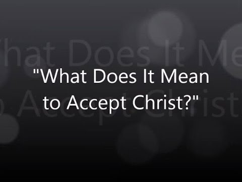 What Does It Mean To Accept Christ? | A.W. Tozer