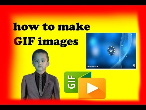 How To Make GIF animated images Send facebook (tamil)