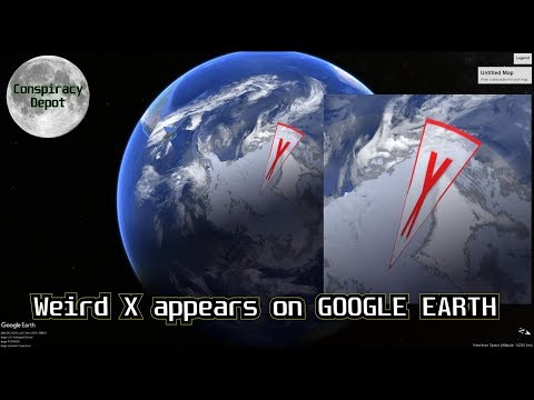 HUGE RED X on Google Earth over ANTARCTICA