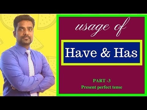 SPOKEN ENGLISH IN TAMIL | HOW TO SPEAK ENGLISH FLUENTLY THROUGH TAMIL | USAGE OF PRESENT PERFECT