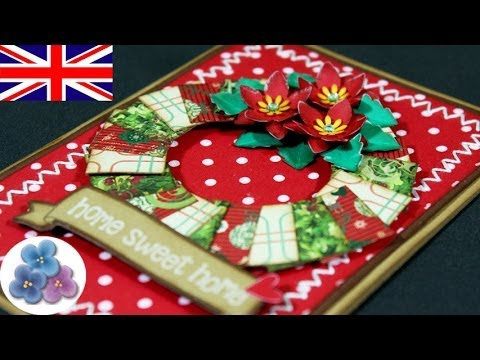 How to Make Advent Wreath and Flowers Christmas Cards DIY Card Making Christmas Greetings Mathie