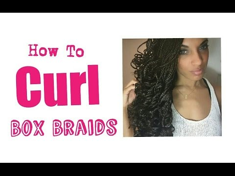 Box Braids Tutorial | How to Curl Braids with Water and Flexi Rods | NiaKnowsHair