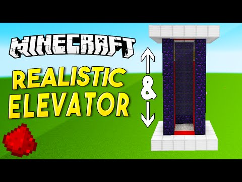 REALISTIC ELEVATOR (No Slimeblocks) - Minecraft Redstone Tutorial