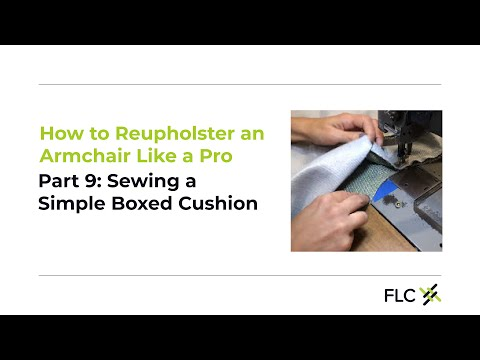 How to sew a simple boxed cushion - Reupholster Aunt Bea: DIY Upholstery with a pro. Part 9