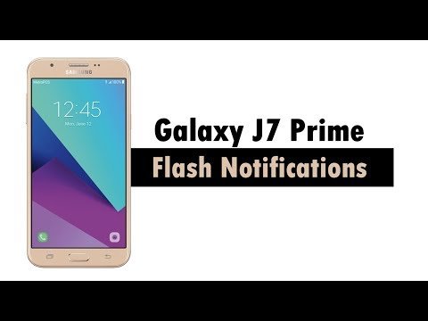 Samsung Galaxy J7 Prime - Turn on Flash Notifications