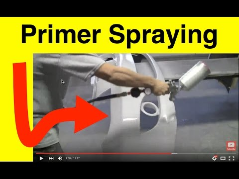 Automotive Primer Lesson - How To Spray Primer and Final Grit Sanding